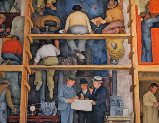 The making of a fresco by diego rivera in san francisco for Diego rivera mural in san francisco