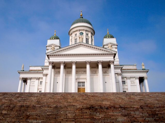 Click to see this image of the Helsinki Cathedral!