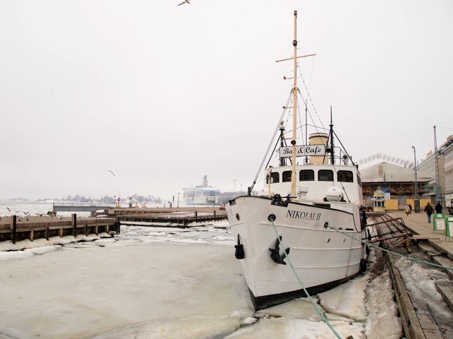 Click to see this image of frozen Helsinki harbor.