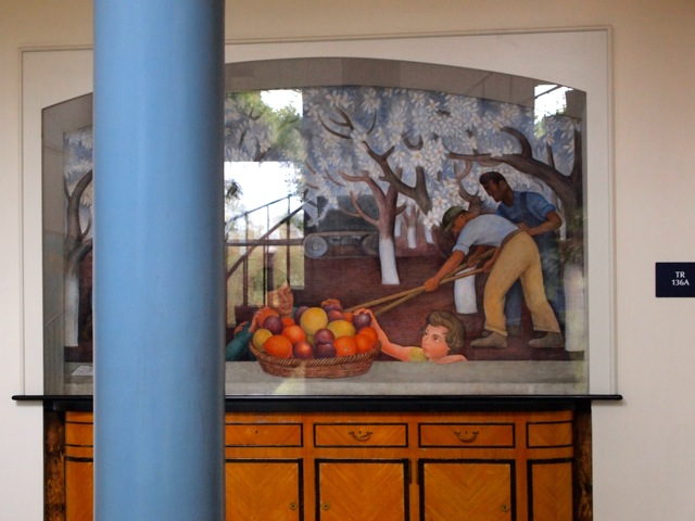 Photo of Still Life & Blossoming Almond Trees Mural by Diego Rivera