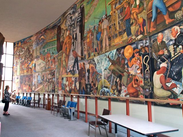 Pan american unity mural by diego rivera in san francisco for Diego rivera mural san francisco art institute