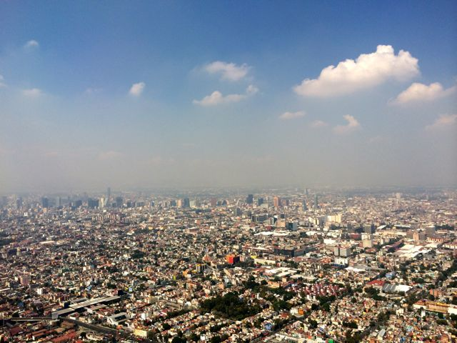 Landing in Mexico City