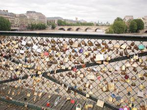 Tourists' Locks of Love in Paris
