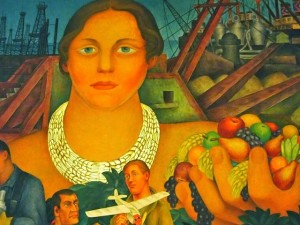 The Allegory of California by Diego Rivera in San Francisco