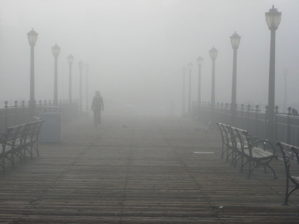 Fog at Pier 7 in San Francisco | Far & Wise